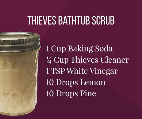 thieves bath scrub recipe card